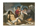 Christ Entombed Giclee Print by  Guercino