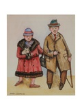 Elderly Couple, 1985 Giclee Print by Gillian Lawson