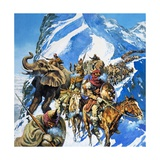 Hannibal Crossing the Alps Giclee Print by  English School