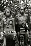 Dayak Couple in Traditional Dress and Tattoos, c.1920 Photographic Print