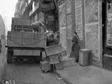 Military Lorries Collecting Rubbish, Paris, 1917 Photographic Print by Jacques Moreau