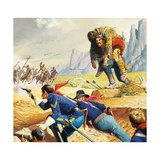 The Heroes of Buffalo Wallow Giclee Print by Severino Baraldi