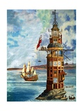 The First Eddystone Lighthouse Giclee Print by Peter Jackson