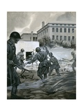 Discovering Hitler's Bunker in Berlin Giclee Print by Angus Mcbride