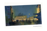 Piccadilly Circus, from 'The New Lights O' London', Published 1926 Giclee Print by Donald Maxwell