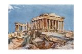 The Parthenon from the Northern End of the Eastern Portico of the Propylaea Giclee Print by John Fulleylove