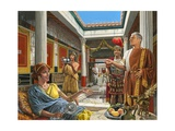 Life in Pompei Giclee Print by Roger Payne