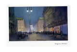 Regent Street, from 'The New Lights O' London', Published 1926 Giclee Print by Donald Maxwell