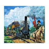 Stockton and Darlington Line Giclee Print by Harry Green
