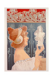 Woman Holding a Statuette, 1901 Giclee Print by Privat Livemont