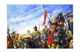 Frederick II in the Crusades Giclee Print by Roger Payne