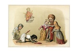 King John Submits to His Brother King Richard Giclee Print by Richard Doyle