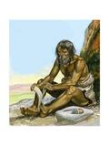 Stone Age Man Giclee Print by Ron Embleton