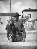 Anteater, Mascot of an American Regiment, 1917-18 Photographic Print by Jacques Moreau