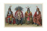 America Costume Giclee Print by  French School