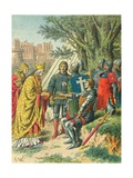 Bertrand Du Guesclin and the Papal Legate Giclee Print by Frederic Theodore Lix