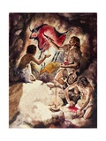 Cave Paintings Giclee Print by Peter Jackson