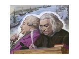 Dr Johnson and Boswell on their Trip to the Western Isles Giclee Print by Ralph Bruce