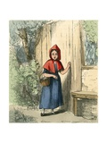 Tapping at Her Grandmother's Door Giclee Print by Thomas Webster
