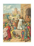 Peter the Hermit Preaching the Crusade Giclee Print by Frederic Theodore Lix