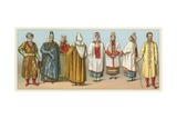 Russia Costume Giclee Print by  French School
