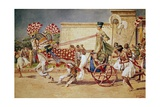 Nefertiti in Her Royal Chariot Giclee Print by Fortunino Matania