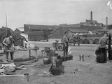 British Camp on the Quay, Rouen, 1914 Photographic Print by Jacques Moreau