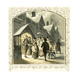 A Carol for a Wassail Bowl Giclee Print by Miles Birkett Foster