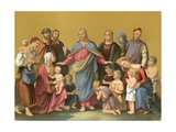 Christ Blessing Children Giclee Print by Heinrich Maria Von Hess