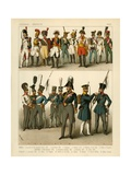 German and French Costumes 1800 Giclee Print by Albert Kretschmer