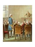 Washington Chosen for Commander in Chief Giclee Print by  English School