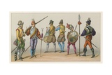 France XVIth Cent Costume Giclee Print by  French School