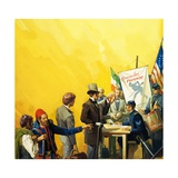 Irish Recruitment for the American Civil War Giclee Print by Severino Baraldi
