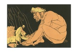 Ulysses Giving Wine to Polyphemus Giclee Print by John Flaxman