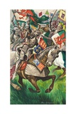 Battle of Bosworth Giclee Print by Peter Jackson