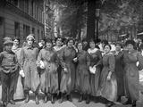 Women Wearing Boiler Suits in the War Factories, Paris, c.1917 Photographic Print by Jacques Moreau