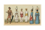 Oceania Costume Giclee Print by  French School