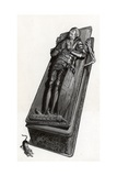 Funerary Monument with Skeleton Coming Out Giclee Print by  English School