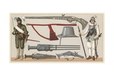 France XVI-XVIIth Cent Costume Giclee Print by  French School