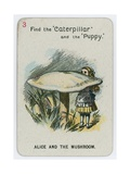 Alice and the Mushroom Giclee Print by John Tenniel