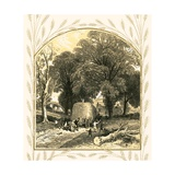 Haywain Giclee Print by Miles Birkett Foster