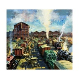 Midland Railway Freight Depot, Nottingham, 1920s Giclee Print by Harry Green