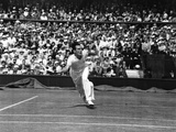 Fred Perry in Action, 5th July 1935 Photographic Print by  English Photographer