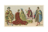 Europe XV-XVIth Cent Costume Giclee Print by  French School