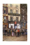 In the Strand: Waiting for Election News Giclee Print by Rose Maynard Barton