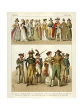 French Costumes 1790-1804 Giclee Print by Albert Kretschmer