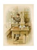 Thomas Edison in His Laboratory Giclee Print by  North American