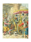 Assassination of King Henry IV of France Giclee Print by Frederic Theodore Lix