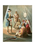 Washington's First Speech to the Indians Giclee Print by  English School