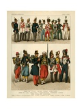 Miscellaneous Costumes 1834-1864 Giclee Print by Albert Kretschmer